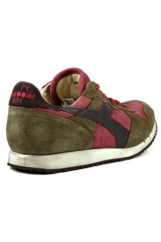 Trident S SW Tibetan Red Burnt Olive Green DIADORA heritage Sneakers 205dbcdbcc