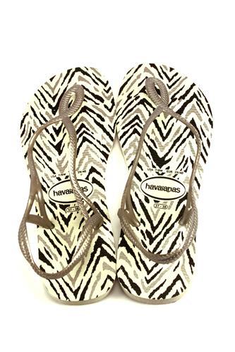a473ebf7bc5a Havaianas Luna Animals White Silver HAVAIANAS Flat Sandals