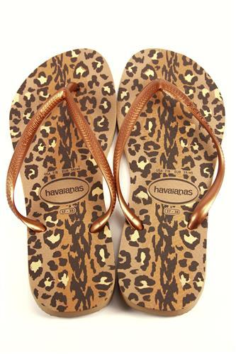 ab06e6f2c2b92a Havaianas Slim Animals Rose Gold Dark Copper HAVAIANAS Flat Sandals